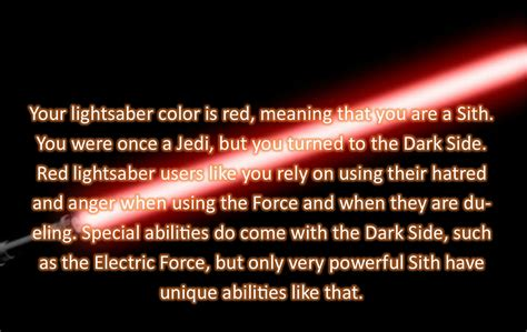 what color would your lightsaber be what color would your lightsaber be well that happened