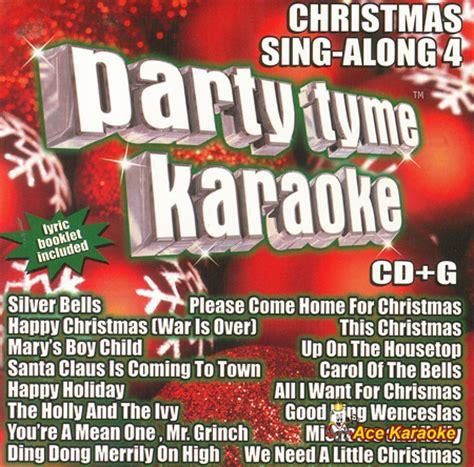 party tyme karaoke cdg syb1103 christmas sing along 4