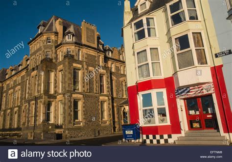 Grade 2 Seafront Building In Aberystwyth Which Featured In The Tv Stock Photo, Royalty Free