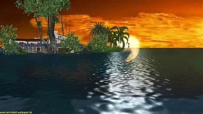Animated Desktop Animation Wallpapers Sunset 3d Background