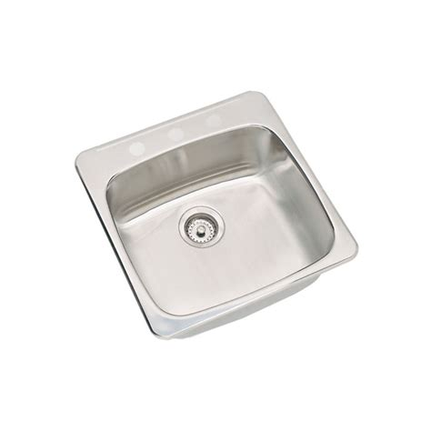stainless steel drop in kitchen sink kindred rsl2020 3 20 1 drop in stainless steel 9391