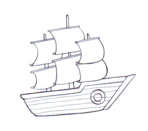 Boat Drawing Pictures by 4 Ways To Draw A Boat Wikihow