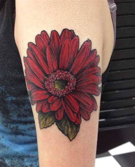 gerber daisy tattoo   ivan  screamin ink  fair lawn nj   approximately
