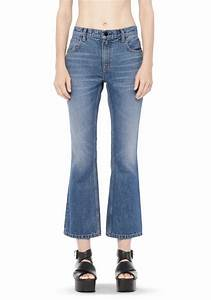 TRAP BOOT CUT CROPPED JEAN | DENIM | Alexander Wang Official Site