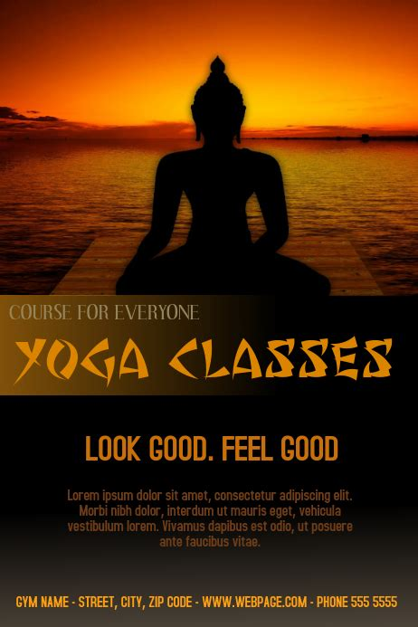 yoga classes  flyer template postermywall