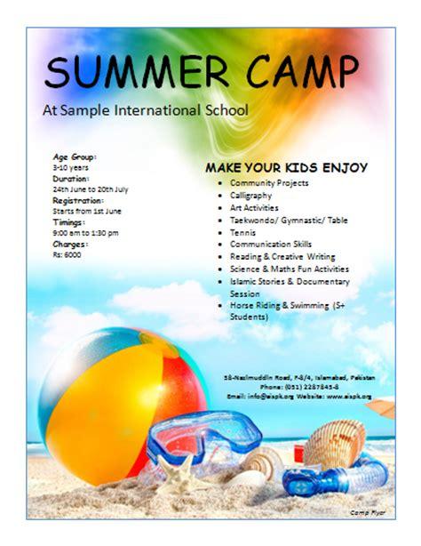 free summer c flyer template 12 free summer c flyer templates demplates
