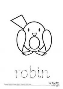 robin tracing christmas printables  kids