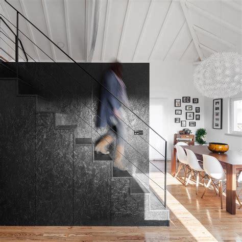 d o chambre b inês brandão installs black box of rooms inside converted