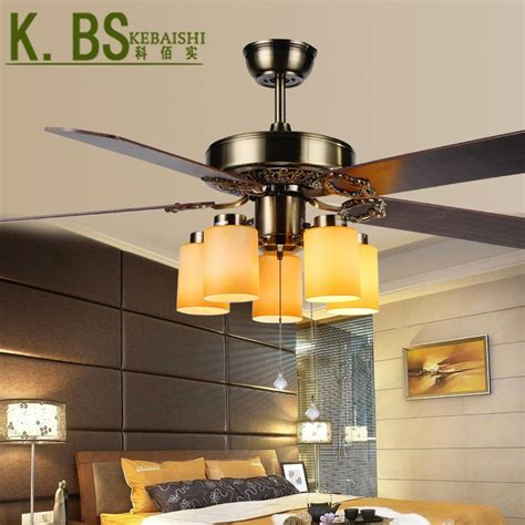 European Antique Ceiling Fan Light Living Roon Dining Room