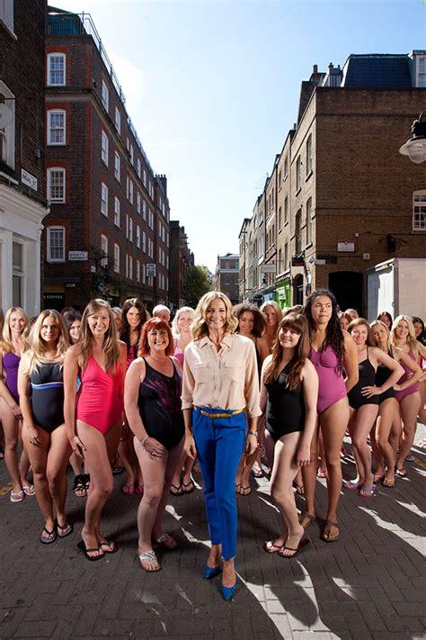 gabby logan fights fat talk  central london parade