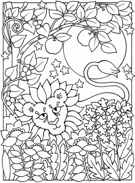 sun  moon coloring page coloring home