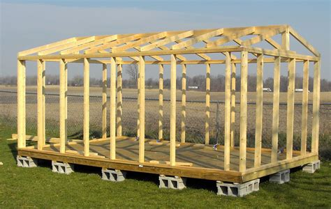 Shed Plans 16x20 Free by 16x20 Shed Plans All Wall And Roof Framing Is From Solid
