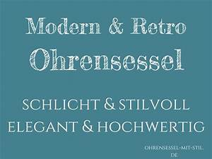Ohrensessel Retro : retro ohrensessel schlicht stilvoll modern mit ~ Pilothousefishingboats.com Haus und Dekorationen