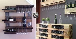 Meuble De Cuisine En Palette : meubles en palette de bois pour ranger votre vin 18 id es ~ Dode.kayakingforconservation.com Idées de Décoration