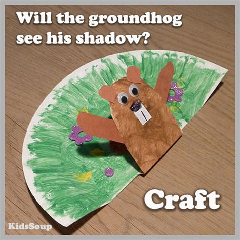 groundhog day preschool and kindergarten activities kidssoup 991 | groundhog shadow craftKS