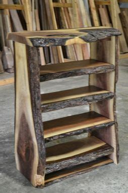 custom   edge walnut bookcase  corey morgan wood