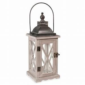 Maison Du Monde Lanterne.Lanterne En Bois Lanterne En Bois H 46 Cm Constance Maisons Du
