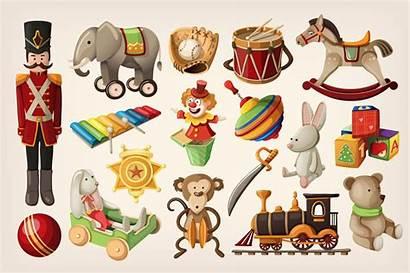 Toys Retro Creativemarket Clip Printable Graphics Elements