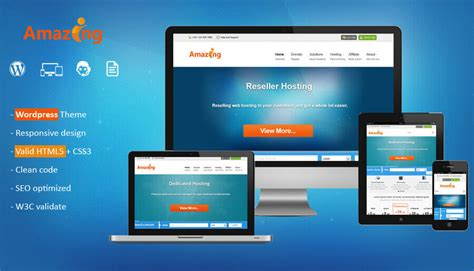 amazing web hosting wordpress theme  whmcs