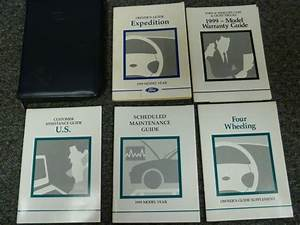 1999 Ford Expedition Suv Owner Manual User Guide Xlt Eddie