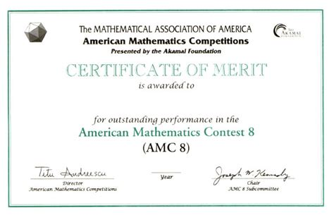 scholarship award certificate templates awards for the amc 10 amc 12 contests aime usamo