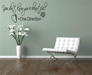 One direction wall art lyrics sticker you dont know
