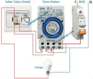 rangkaian timer theben bisa diatur manual otomatis