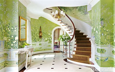 glamorously decorated home entrances
