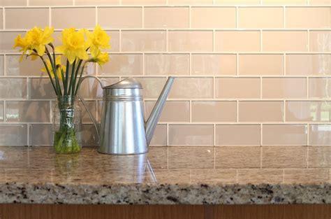 glass subway tile Kitchen Contemporary with backsplash
