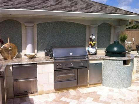 kitchens with an island outdoor kitchens countertops travertine pavers and mosaics 6599