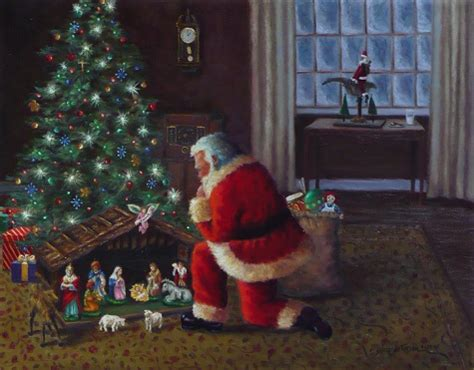 rita salazar dickerson santa claus nativity paintings