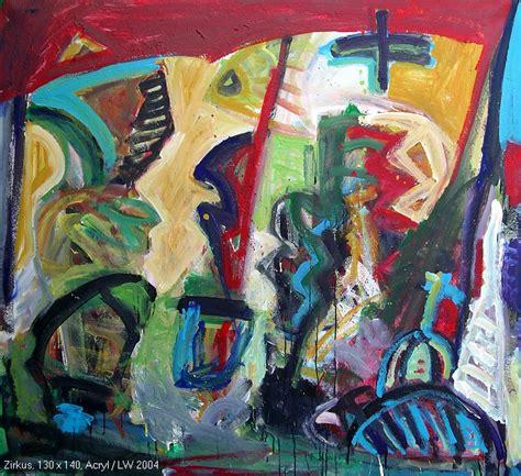 Bilder In Acryl by Frank Panse Werke Zirkus Acryl 130x140 2004