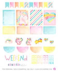 Unicorns Free Printable Planner Stickers