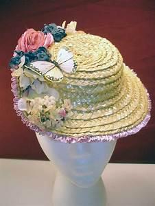 Civil War Ladies Summer Straw Hat Worn At Old West Picnics