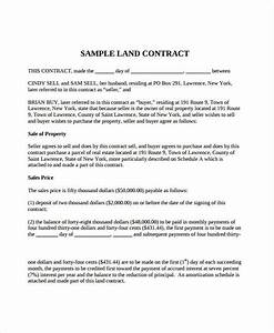 7 land contract forms free sample example format With land purchase contract template