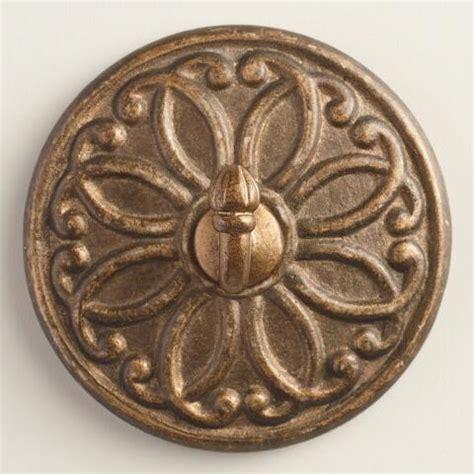 ceramic medallions gold medallion ceramic wall hooks set of 2 world market