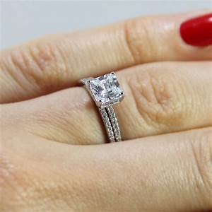 sterling silver princess cut wedding ring set sbgr01011 With engagement rings wedding ring sets