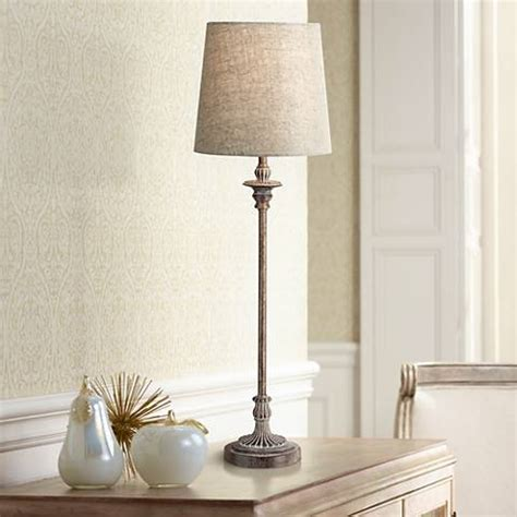 Bentley Weathered Brown Buffet Table Lamp  #2d249 Lamps
