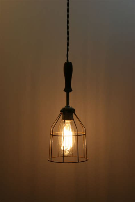 suspension wire for lights wood handle industrial hanging pendant light with vintage