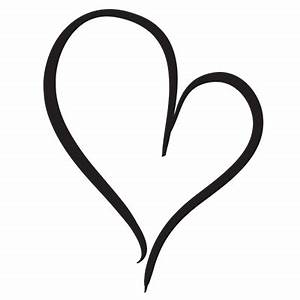Free Simple Heart Outline, Download Free Clip Art, Free ...