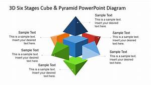 3d Six Stages Cube  U0026 Pyramid Powerpoint Diagram