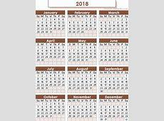 Hijri Calendar 2018 free excel templates