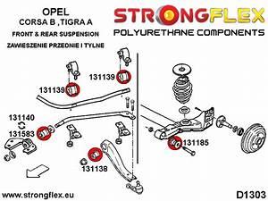 Opel Corsa I B Tigra A V Front  U0026 Rear Suspension Bush Kit Polyurethane