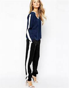 Pantalon Avec Bande Sur Le Coté : vila vila pantalon de jogging avec bande sur le c t ~ Melissatoandfro.com Idées de Décoration