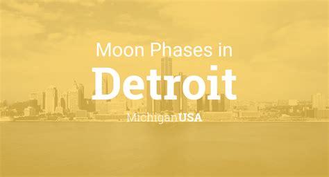 moon phases  lunar calendar  detroit michigan usa