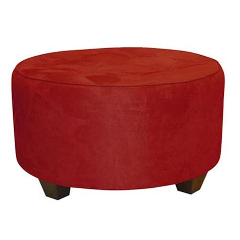 round red leather ottoman red round ottoman bellacor