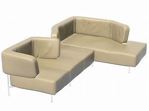 sectional sofa daybed 3d model 3ds max3dswavefront files With sectional sofa 3d model