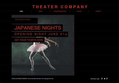 Theatre Company Website Templates by Free Html5 Website Templates Entheos
