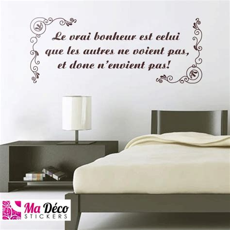 stickers muraux citations chambre stickers citation quot le vrai bonheur quot cheap stickers