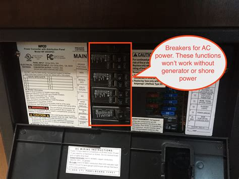 rv electrical power distribution panel diagram